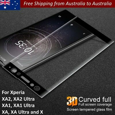 AU9.99 • Buy For Sony Xperia XA3 XA2 Plus XA1 Plus XA1 Ultra Curved Full Cover Tempered Glass