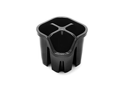 AU22.86 • Buy Addis Cutlery Utensil Drainer Caddy With 4 Compartments, Black, 14 X 14 X 13 Cm