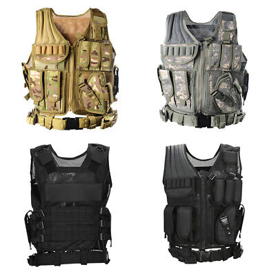 £20.99 • Buy Adjustable Tactical Military Airsoft Molle Combat Army Plate Carrier Vest Unisex