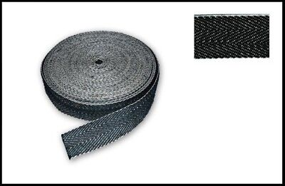 £7.95 • Buy Black & White 2  (50mm) Upholstery Seat Jute Cotton Webbing Strap Extra Strength