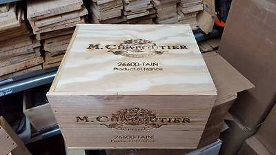 £19.95 • Buy 1 X Wine Box With Lid - Genuine French Wooden Wine Crate Box Christmas Gift Idea