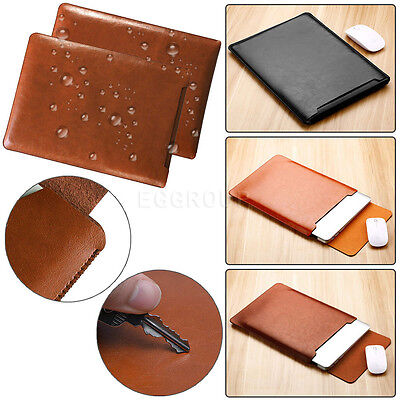 $10.24 • Buy For MacBook Air 11 12 Pro 13 15 Retina Leather Laptop Sleeve Bag Case Cover New