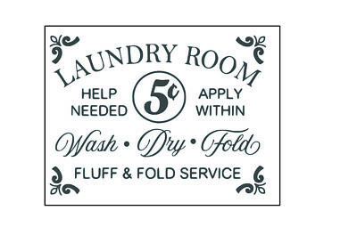 Laundry Room Fluff And Fold Service Vintage Style Metal Wall Plaque Sign • 4.99£