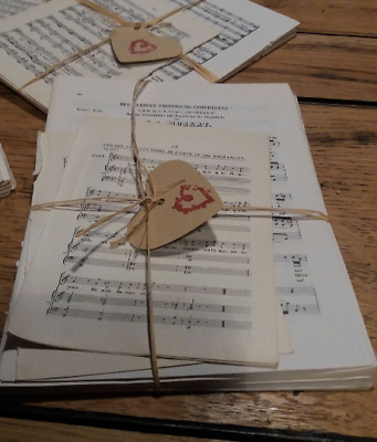£4.50 • Buy **SHABBY CHIC 30 Sheets VINTAGE Music Paper. 12 X 17 Cms Origami Card Making Etc