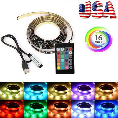 $7.59 • Buy 2M USB Powered RGB 5050 LED Strip Lighting For TV Computer Background Light