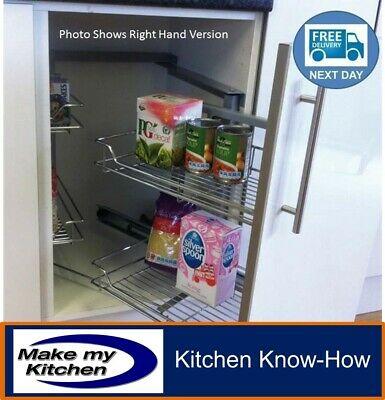 £170.99 • Buy Hafele Pull & Swing Out Magic Corner Soft Close For 1000mm Kitchen Unit