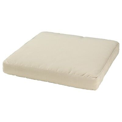 AU69 • Buy IKEA Outdoor Cushion Chair Lounge Seat Pad Removable Washable Cover - Beige 62cm