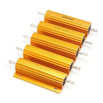 $1.22 • Buy 100W Watt Shell Power Aluminum Housed Case Wirewound Resistor New 1 To 5000 Ohm