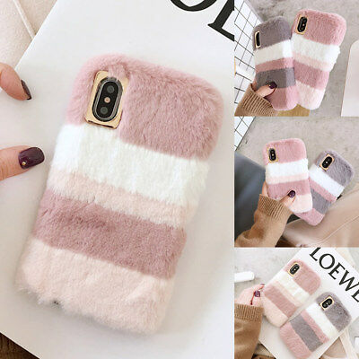 For IPhone Samsung Lovely Warm Plush Fluffy Back Case Comfy Faux Fur Soft Cover • 5.69£