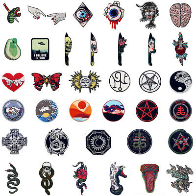 £2.99 • Buy Iron Sew On Patches Lots Embroidered Patches Badges Appliques Transfers Patterns