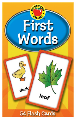 £4.99 • Buy Baby Book  First Words  Brighter Child Flash Cards For Toddler And Kid Gift