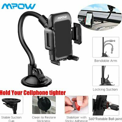 AU15.99 • Buy Mpow Car Dashboard/Windshield Phone Holder Long Arm Sucker Mount For Cell Phones
