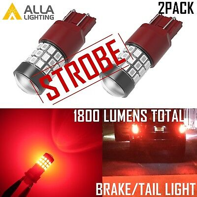 $19.99 • Buy Alla Lighting LED 7443 Strobe Blinking Flashing Brake Light Bulb Safety Warning