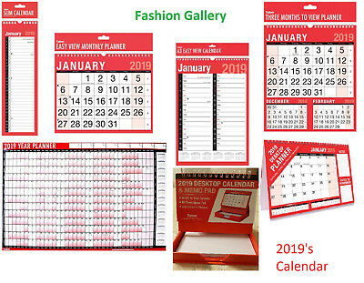 £9.99 • Buy  2021 Desk Hanging Wall Large Month To View  Easy View Calendar Planner