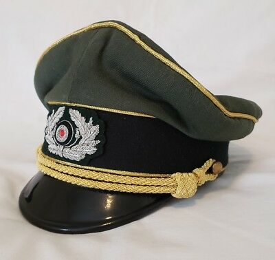 WW2 German Military Army Field Marshals Generals Officers Visor Hat Cap  Costume • 124.96  a02facd063a0