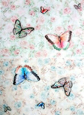 £1.99 • Buy  Rice Paper For Decoupage, Scrapbooking, Sheet Craft Vintage Colorful Butterflie