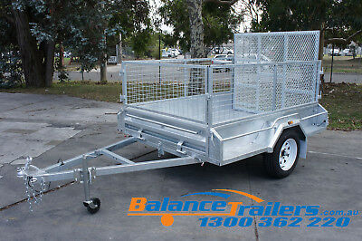 AU2100 • Buy 7x5 HOT DIP GALVANISED FULLY WELDED TIPPER BOX TRAILER WITH 1,290MM RAMP