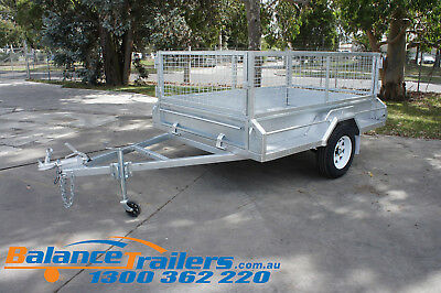 AU2400 • Buy 8x5 Galvanised Fully Welded Box Trailer With 600mm Cage & Brake ATM1400KG