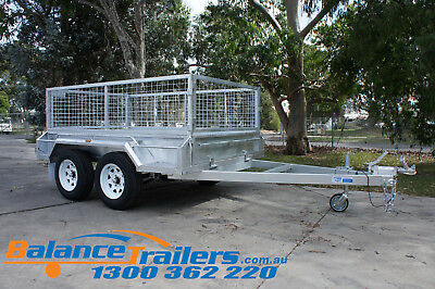 AU3200 • Buy 8x5 Hot Dip Galvanised Fully Welded Tandem Trailer With 600mm Removable Cage