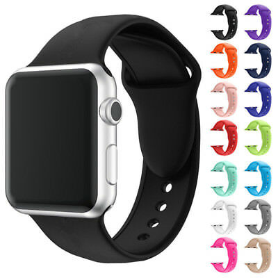 $ CDN5.69 • Buy For Apple Watch Series 1 2 3 IWatch 38mm 42mm Replacement Silicone Band Strap
