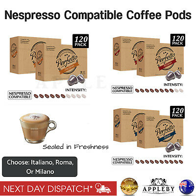 AU56.66 • Buy Nespresso Compatible Coffee Pods Capsules Various Intensity Flavours 120 Packs