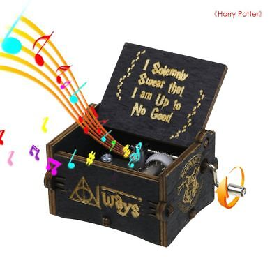 $ CDN7.36 • Buy Harry Potter Music Box Engraved Wooden Music Box Craft Collectible Toy Gift NEW