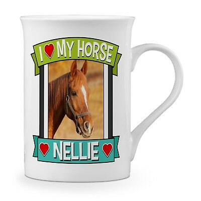 Personalised I Love My Horse (Any Name & Image) Gift Fine Bone China Mug  • 9.99£