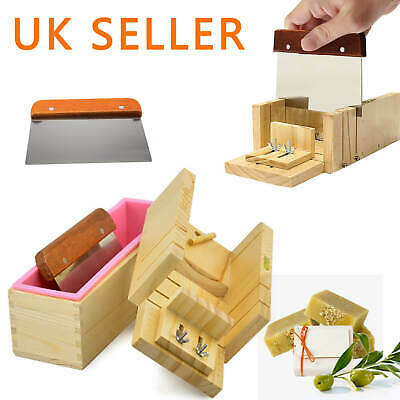 Silicone Soap Mold Wooden Box Loaf Cake Maker Cutting Slicer Cutter Making Tool • 16.59£