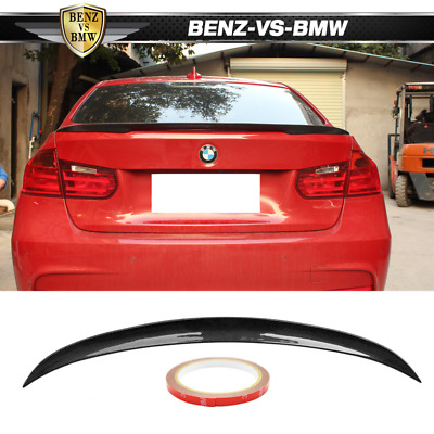 $115.99 • Buy Fits 12-20 BMW 3-Series F30 F80 P Style Trunk Spoiler Carbon Fiber
