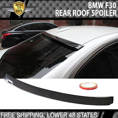 $159.99 • Buy Fits 12-19 BMW 3-Series F30 F80 AC Style Roof Spoiler Carbon Fiber