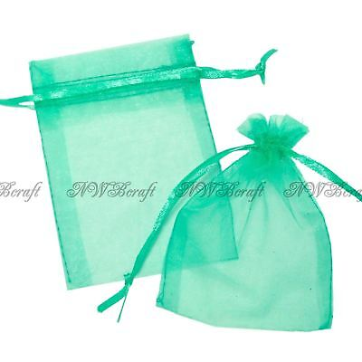 £1.79 • Buy Mint Organza Gift Favour Bags Wedding Jewellery Drawstring Pouches