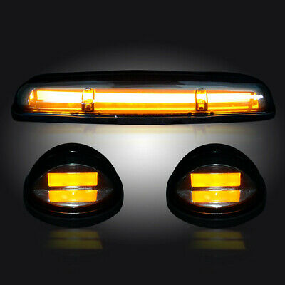 $189.95 • Buy 2002-2007 Chevy Silverado GMC Sierra Clear Cab Roof Lights High Power Amber LEDs