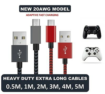 AU8.93 • Buy 20AWG Sony PS4 PlayStation 4 Controller Cable Charger Micro USB Sync Data Lead