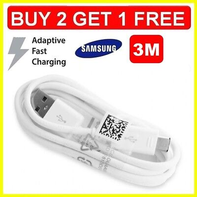 $ CDN5.28 • Buy Fast Charger 3M USB Data Sync & Cable Lead For Samsung Galaxy S5 S6 S7 & Edge
