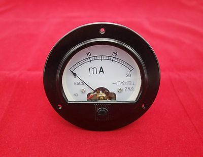 $8.28 • Buy DC 0-30mA Round Analog Ammeter Panel AMP Meter Dia. 90mm Directly Connect