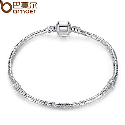 $3.19 • Buy Bamoer Snake Chain S925 Silver Snake Bracelet Fit European Charms Women Jewelry