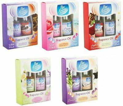 Set Of 5 Pan Aroma Fragrance Oil For Oil Burners & Pot Pourri Assorted Scents • 10.99£