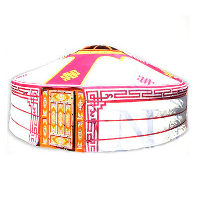 Mongolian Yurt, Pink Canvas Cover With Ulzii Pattern • 2,092.52£