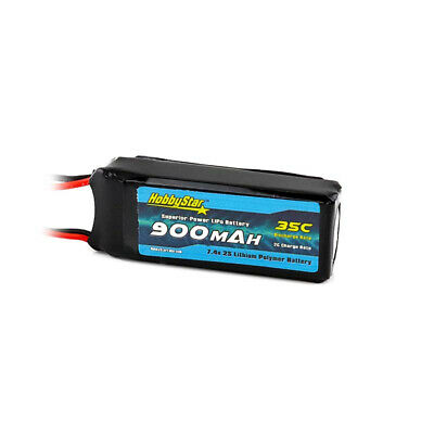 $ CDN19.76 • Buy HobbyStar 900mAh 2S 7.4V 35C LiPo Battery JST Plug RC Heli Car Blade