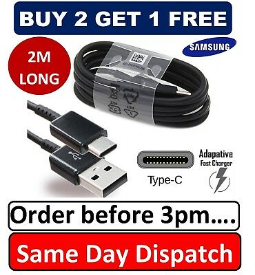 $ CDN4.92 • Buy 2M Long Samsung Galaxy S9 / S9+ Plus Type C USB--C Sync Charger Charging Cable
