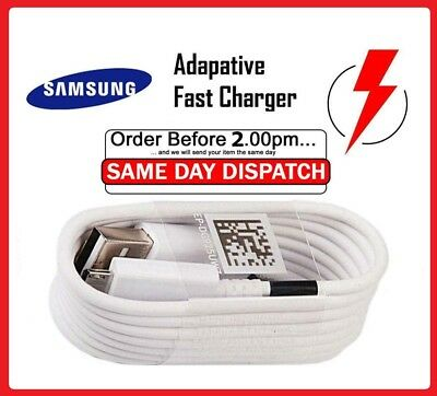 $ CDN5.09 • Buy Genuine Original Samsung Galaxy A3 A5 J5 S6 S8 S8+ S9 S9+ Fast Charger USB Cable