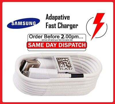 Genuine Original Samsung Galaxy A3 A5 J5 S6 S8 S8+ S9 S9+ Fast Charger USB Cable • 2.99£