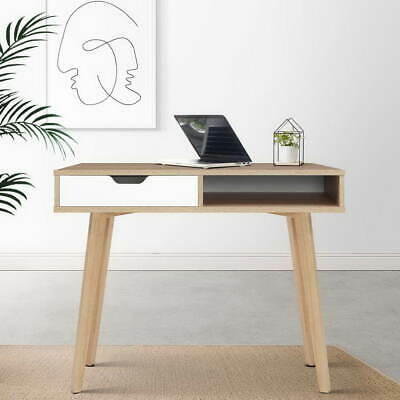 AU148.95 • Buy Wooden Computer Desk Home Office Writing Study Table W/ Drawer & Open Storage