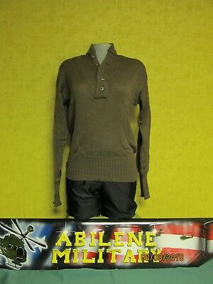 $18.85 • Buy GI Army Brown Sweater 5 Button Genuine Us Military Wool OR Acrylic Sweater