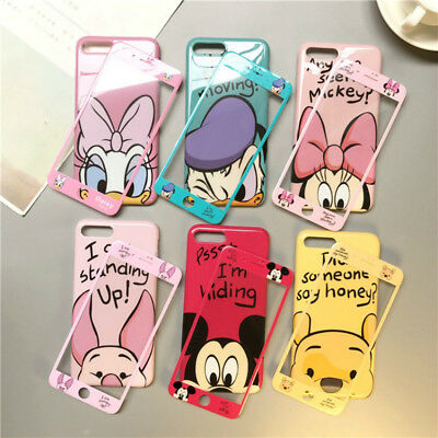 AU11.59 • Buy Cute Cartoon Disney Minnie Winnie Glass Case Cover For Iphone 11 Pro XS Max 7 8+