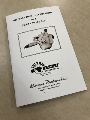 $ CDN16.06 • Buy Ford 8n 2n 9n Tractor Sherman Step Up Transmission Install Parts Service Manual