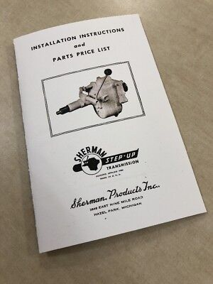 $ CDN17.36 • Buy Ford 8n 2n 9n Tractor Sherman Step Up Transmission Install Parts Service Manual