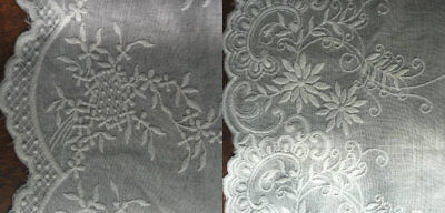 Cotton Off White Embroidered Lace Fabric Trim 1 Yard Width 25/26 Cm  • 4.89£