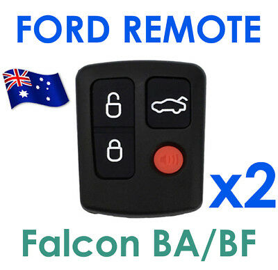 AU12.98 • Buy FOR 2 X Ford BA BF Falcon Sedan/Wagon Keyless Car Remote 4 Button Keypad