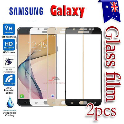 AU6.99 • Buy 2X For Samsung Galaxy A5 J2 J5 J7 Pro Full Cover Tempered Glass Screen Protector